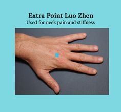 Acupressure point for neck pain