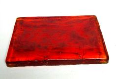 Vintage Blenko Amberina Art Glass Slab Dalle De Ve Verre Red 12X8X1 8lb