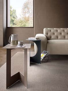 Duetto By pianca, square round coffee table