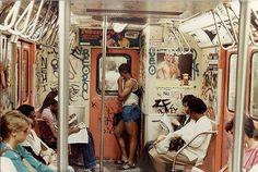 CLASSIC #NYC #1980'S  #MTA #SUBWAY #GRAFFITI #TRAIN