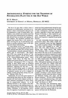 Archaeological evidence for the tradition of psychoactive plant use In the old world - Springer Old World, Old Things, Traditional, Words, Plants, Flora, Plant, Horse