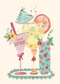 Birthday cards - felicity french illustration birthday quotes с днем рожден Happy Birthday Messages, Happy Birthday Images, Happy Birthday Greetings, Birthday Pictures, Happy Birthday Cheers, Happy Birthday Vintage, Happy Birthday Beautiful, Happy Birthday Quotes, Birthday Pins