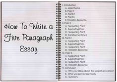 The Five Paragraph Essay-- The five paragraph essay measures a student's basic writing skills, and is often a timed exercise. Use this Guide to help you practice and succeed at this form of writing.
