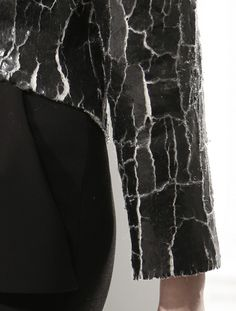 Cracked Leather Top - fabric surface effects; cracked paint textures; textiles for fashion // Balenciaga