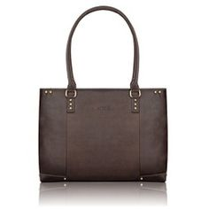 Solo-Vintage-Collection-Womens-Leather-Carryall-for-Laptops-up-to-156-Inches-Dark-Brown-VTA801-0