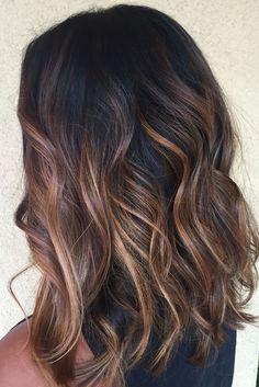 Caramel balayage hair by Genna Khein http://www.gennakhein.com More