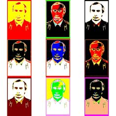 Civil servants collection: Vladimir 17 - of a series of stylized portraits; Dedicated to the reminiscence of Andy Warhol Andy Warhol, Portrait Photo, Caricature, Faces, Portraits, Painting, Collection, Head Shots, Painting Art