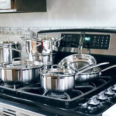 We found the Cuisinart Multiclad Pro Stainless Steel Cookware Set delivered on its promise of a beautiful, functional design with quality cooking chops to match. Cast Iron Cookware, Cookware Set, Cuisinart Cookware, Stainless Steel Pot, Pots And Pans Sets, Pan Set, Kitchen Essentials, Kitchenware, Kitchen Items