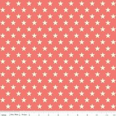 http://www.plushaddict.co.uk/all-fabric/quilting-weight-cottons/by-collection/riley-blake-trendsetter/riley-blake-trendsetter-stars-coral.html Riley Blake - Trendsetter Stars Coral