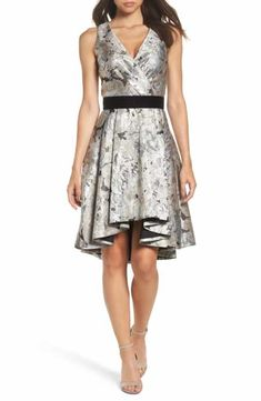 7a89bea5f9a Eliza J Jacquard High Low Dress (Regular   Petite) Date Night Fashion