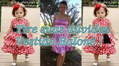 Vestido balonê infantil por Alana Santos Blogger