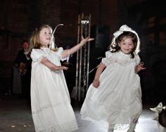 white linen flower girl dresses | smocked flower girl dresses | classic flower girl dress