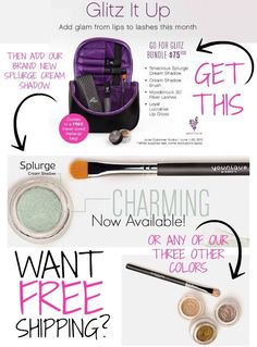 Get free shipping when you order the June 2015 kudos and the new cream eye shadow!  www.beautybyjana.com