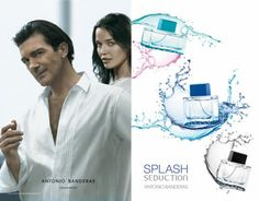 Antonio Banderas Splash Seduction Collection: Splash Blue Seduction for Men is a fresh and energetic woody-aquatic scent. / Splash Blue Seduction for Women is a refreshing floral-fruity fragrance. / Splash Seduction In Black is a sensual woody fragrance enriched with aquatic accords for summer.