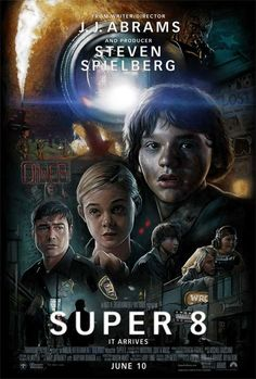 Super 8 (2011) (PG-13) 1hr52min  Stars: Kyle Chandler, Joel Courtney, Elle Fanning  Director: J.J. Abrams  Writer: J.J. Abrams  Story: When a train crash gets a group of teenagers involved, their town is thwarted with strange and unexplained theories in 1979  Critics Praise: 82%  Audience Praise: 74%