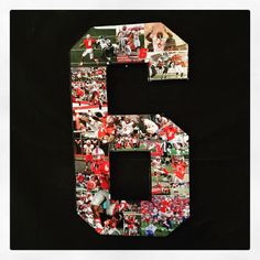 Senior Night, senior day, senior gift! Photo collage on wooden numbers. Your memories celebrated on your jersey number! What better way to celebrate an athlete's career?
