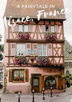 A FAIRYTALE IN ALSACE,FRANCE! Colmar is located in the Alsace region of France and it really feels like one big fairytale town. The houses and shops in Colmar are all intricately decorated. It's so nice to see how much effort everyone seems to put into these things. You constantly looking up for beautiful architecture details or particularly lovely flower pots. Here's a little more of colourful Alsace. By Irene Fiedler for WeAreTravelGirls.com