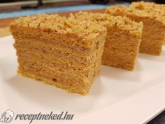 Érdekel a receptje? Kattints a képre! Küldte: Receptneked Hungarian Recipes, Something Sweet, Cake Cookies, Cornbread, Cooking Recipes, Favorite Recipes, Sweets, Ethnic Recipes, Food