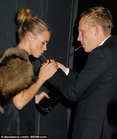 Billi Piper and Laurence Fox....