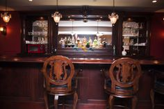 Beautiful bar in the speakeasy basement. Great for wedding receptions!