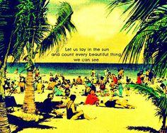 iheartprintsandpatterns: I ♥ Etsy - Vintage Beach Quotes