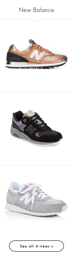 """""""New Balance"""" by skyflyinstyles ❤ liked on Polyvore featuring shoes, sneakers, grey, new balance shoes, suede lace up shoes, grey suede shoes, gray suede shoes, gray sneakers, metallic leather shoes and metallic sneakers"""