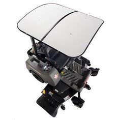Femco White Thermoplastic Lawn Mower Canopy Ss4444w
