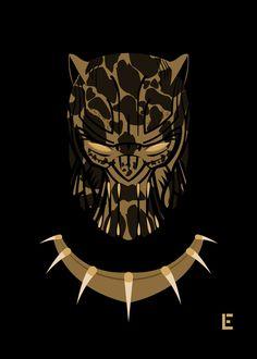 Killmonger Mask by thelivingethan on DeviantArt Marvel Villains, Marvel Vs, Marvel Funny, Black Panther Art, Black Panther Marvel, Golden Jaguar Marvel, Rwby Cinder, Avengers, Erik Killmonger