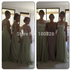 Find More Bridesmaid Dresses Information about 2015 New Arrive Custom Made Floor Length Cap Sleeve Scoop Appliques Backless Chiffon A Line Bridesmaid Dresses Free Shipping,High Quality dress up pageant girls,China dress reseller Suppliers, Cheap arrival from Rose Wedding Dress Co., Ltd on Aliexpress.com