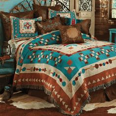 Southwest At Heart Tapestry Coverlet   Queen