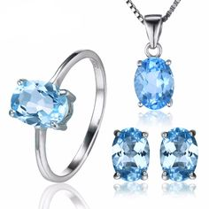 5.8ct Natrual Blue Topaz Set   #art #rings #to #stone #ring #matte #make #style