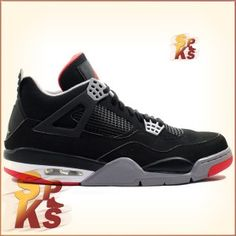 a643c47ad07 Air Jordan 4 (IV) Retro Bred 2012 Black / Cement Grey-Fire Red 308497-089