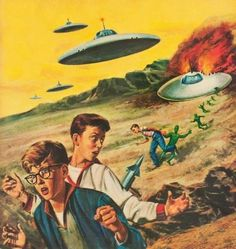 The Invasion Is On…A Flying Saucer Is Shot Down By... | Scout's Atomic Flash