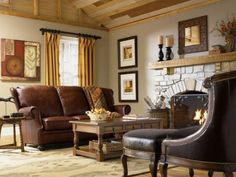 Country cottage living room decor country cottage living room furniture country style furniture living room leather sofa fireplace cottage on homey country French Living Rooms, Small Living Rooms, Living Room Interior, Living Room Designs, Interior Paint, Family Rooms, Salons Cottage, Country Cottage Living Room, Cottage Lounge