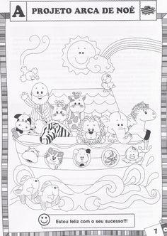 BAUZINHO DA WEB - BAÚ DA WEB Desenhos para colorir pintar e Atividades Escolares: Projeto Arca de Noé com atividades para imprimir!                                                                                                                                                                                 Más