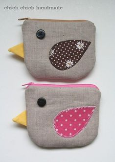 bird coin purse/gadget pouch by chick chick sewing (amy), via Flickr