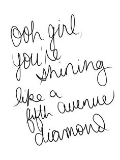 Shining like a fifth avenue diamond ❥