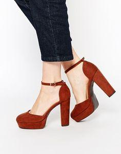 New Look - Chaussures style 70's à gros talon et semelle plateforme