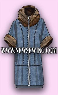 Tunic - clothes for the off-season.  Ready pattern for free.