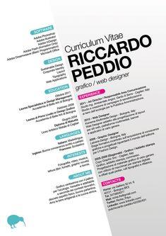 Curriculum Vitae di Riccardo Peddio / Graphic Resume on the Behance Network Cv Inspiration, Graphic Design Inspiration, Editorial Layout, Editorial Design, Layout Web, Cv Original, Cv Curriculum Vitae, It Cv, Graphic Design Resume