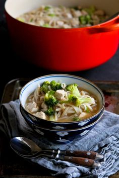 Chicken Vegetable Rice Noodle Soup