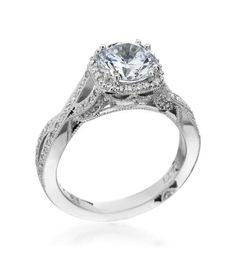 Tacori - Dantela Platinum Diamond Twist Setting