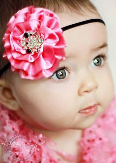 Pink and Black headband love this combo!  Photo by Liane Knack Photography