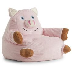 Cuddle up on this loveable Comfort Research Bagimals Arm Chair Bean Bag- Pig . Any animal lover will adore snuggling with this soft, pink pig for. Small Bean Bags, Small Bean Bag Chairs, Kids Bean Bags, Bean Bag Armchair, Bean Bag Sofa, Kids Armchair, Outdoor Bean Bag Chair, Bean Bag Lounger, This Little Piggy
