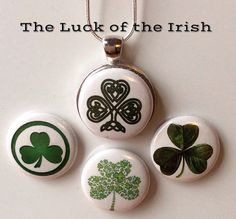 Interchangeable Irish Magnetic Pendant by BellyLaughButtons