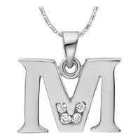 "I think you'll like 18k White Gold Plated Alphabet ""M"" Necklace. Add it to your wishlist!  http://www.wish.com/c/52f114bdbb72c52db2383e9c"