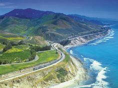 Over the course of 35 hours (!), you'll see all sorts of natural beauty, from stunning ocean views to the peaks of the Cascade Mountain Range, as this train travels from Seattle to Los Angeles.
