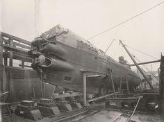 Dziób UB-110 - widok boczny.