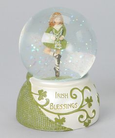 Irish Dancer Glitter Dome by Roman, Inc. #zulily #zulilyfinds