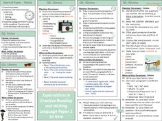 A two page exam revision mat outlining how to approach the sections and skills for the AQA GCSE English Language exams, Papers 1 and Ideal for walking t. Aqa Gcse English Language, English Gcse Revision, Gcse English Literature, Exam Revision, English Exam, English Writing, Teaching English, Revision Strategies, Assessment